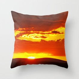 Sunset at Etosha NP, Namibia Throw Pillow