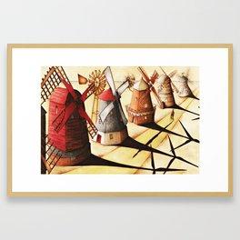 Leaning Against the Wind Framed Art Print