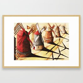 Leaning Against the Wind Framed Art Print