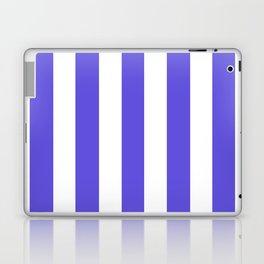 Majorelle blue - solid color - white vertical lines pattern Laptop & iPad Skin