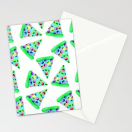 Teal Rainbow Pizza! Stationery Cards