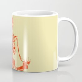Skeleton Sukhasana Coffee Mug