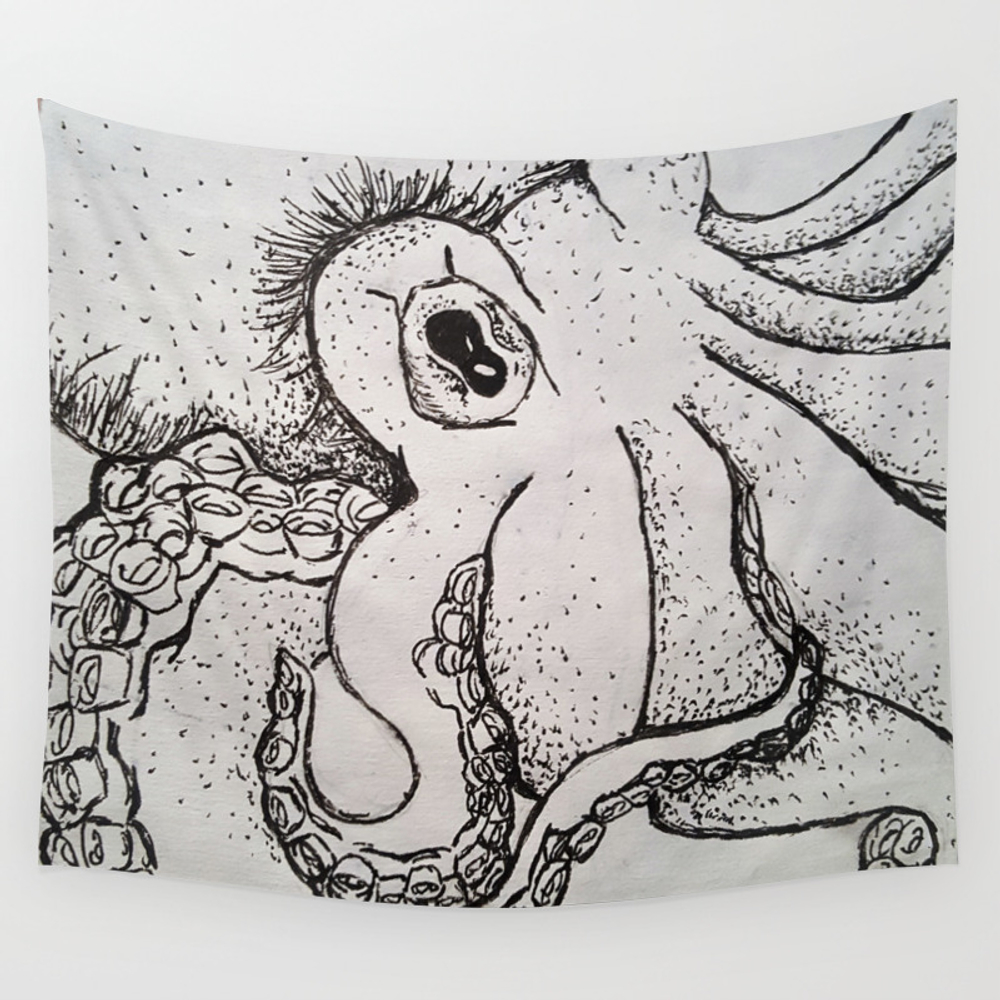 Suction Cups Wall Tapestry by Firewell TPS6804284
