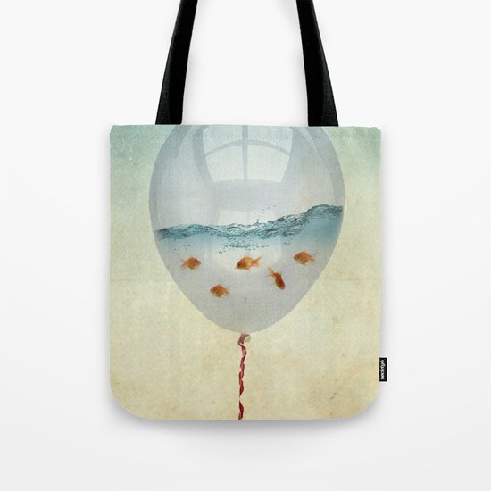 balloon fish o2, freedom in a bubble Tote Bag