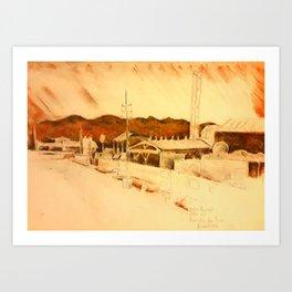 Kandahar Air Field Art Print