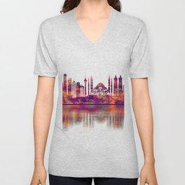 Istanbul Turkey Skyline Unisex V-Neck