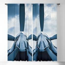Clear Prop! A Vintage Aircraft Propeller Against The Background Of Stormy Sky Blackout Curtain