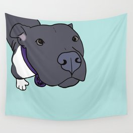 Faith The Resilient Pit Bull Wall Tapestry