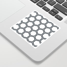 Hexagon White Sticker