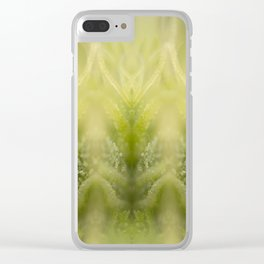 Cannabis Symmetry Abstract Clear iPhone Case