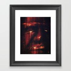 Red I Framed Art Print