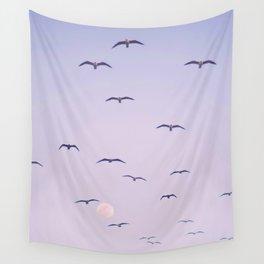 Seagulls & Moon by Murray Bolesta Wall Tapestry