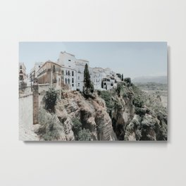 Ronda Andalusia Photo | Andalusia Photography | Ronda Houses On Rocks Metal Print