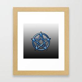 Blue Pentagram Framed Art Print