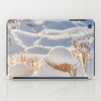 notebook iPad Cases featuring And finally Winter, with its bitin', whinin' wind, and all the land will be mantled with snow. by UtArt
