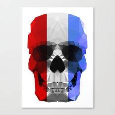 Polygon Heroes - The Patriot Skull Canvas Print