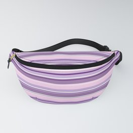 Mixed Striped Design Pinks Purples White Fanny Pack