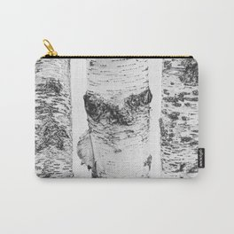 Birch Trees Landscape Photography   Black and White   black-and-white   bw Carry-All Pouch