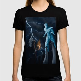 Viking woman against the Ice Giant T-shirt