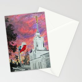 Santiago Chile LDS Temple Sunset Stationery Cards