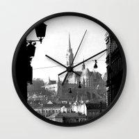 budapest Wall Clocks featuring Budapest by Lena Karafelova