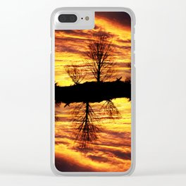 fire sky illusion Clear iPhone Case
