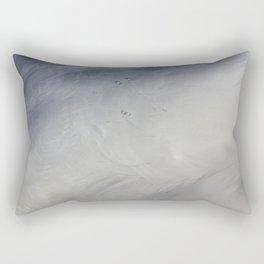 Swan Feathers Rectangular Pillow