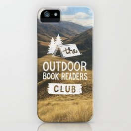 The Outdoor Book Readers Club iPhone Case