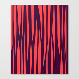 Design lines red on chocolate Canvas Print