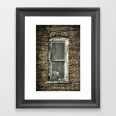 Brick Window 2 Framed Art Print