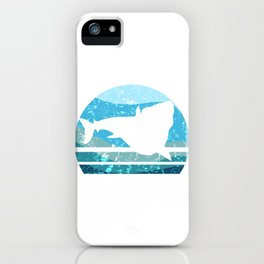 Vintage Prehistoric Shark - Megalodon T-Shirt iPhone Case