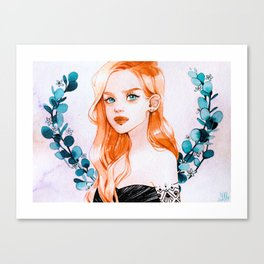 Ginger babe Canvas Print