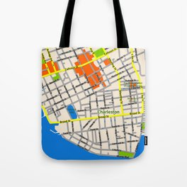Map of Charleston, SC Tote Bag