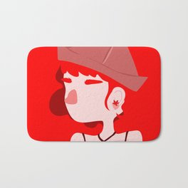 "Color Girl Series: ""Ruby"" Bath Mat"