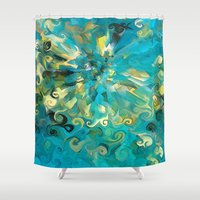 fireworks Shower Curtains featuring Fireworks by Paul Kimble
