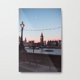 Big Ben, Westminster Bridge, Southbank at sunrise Metal Print
