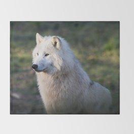 Canis Lupus Arctos II Throw Blanket