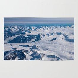 Aerial Glacier Four - Alaska Rug