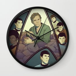 Star Trek Art Nouveau Wall Clock
