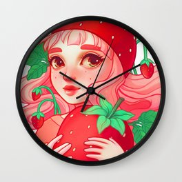 Strawberry Sweetie Wall Clock