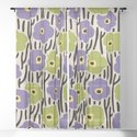 Mid Century Modern Wild Flowers Pattern Purple and Green by tonymagner