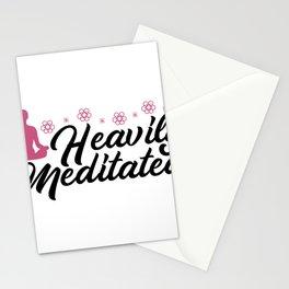 Meditation Heavily Meditated Funny Yoga Stationery Cards