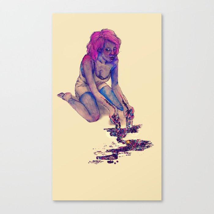 and we'll drip, drip away  Canvas Print