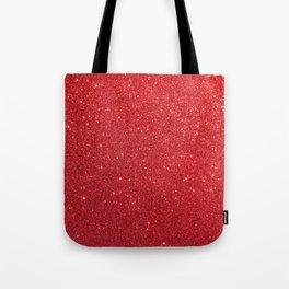 Ruby Red July Leo Birthstone Shimmering Glitter Tote Bag