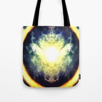 halo Tote Bags featuring HALO by Chrisb Marquez