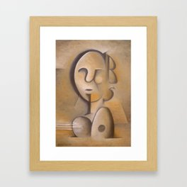 Man or Woman with or without Guitar or Mandolin Framed Art Print
