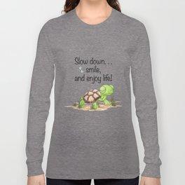 Smiling Turtle Long Sleeve T-shirt