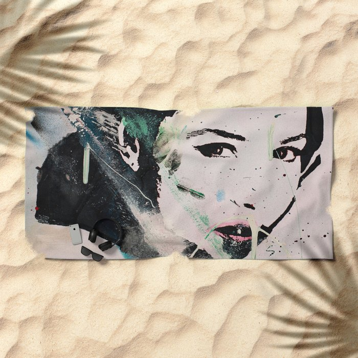 Monika Bellucci Beach Towel