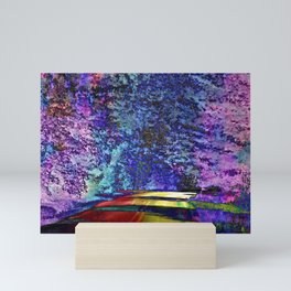 Road to Lake Abstract PhotoArt Mini Art Print