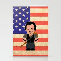 """springsteen Stationery Cards featuring The Boss by Michele """"Sonik"""" Bruseghin"""